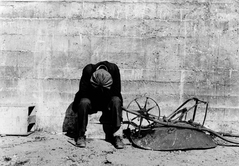 History repeats itself: an unemployed construction worker in 1935.